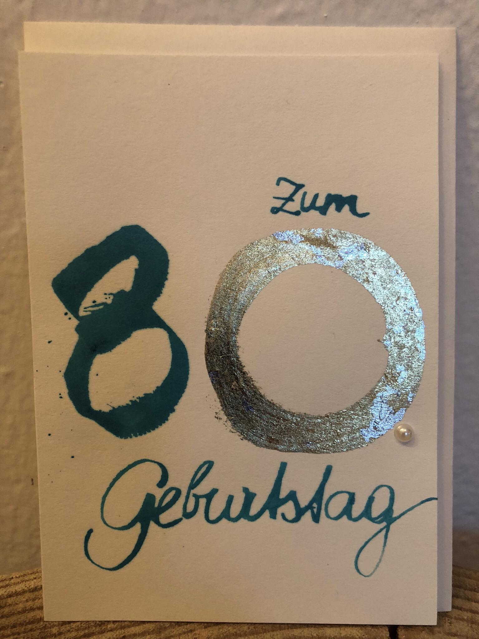 Karte - Zum 80. Geburtstag 00252