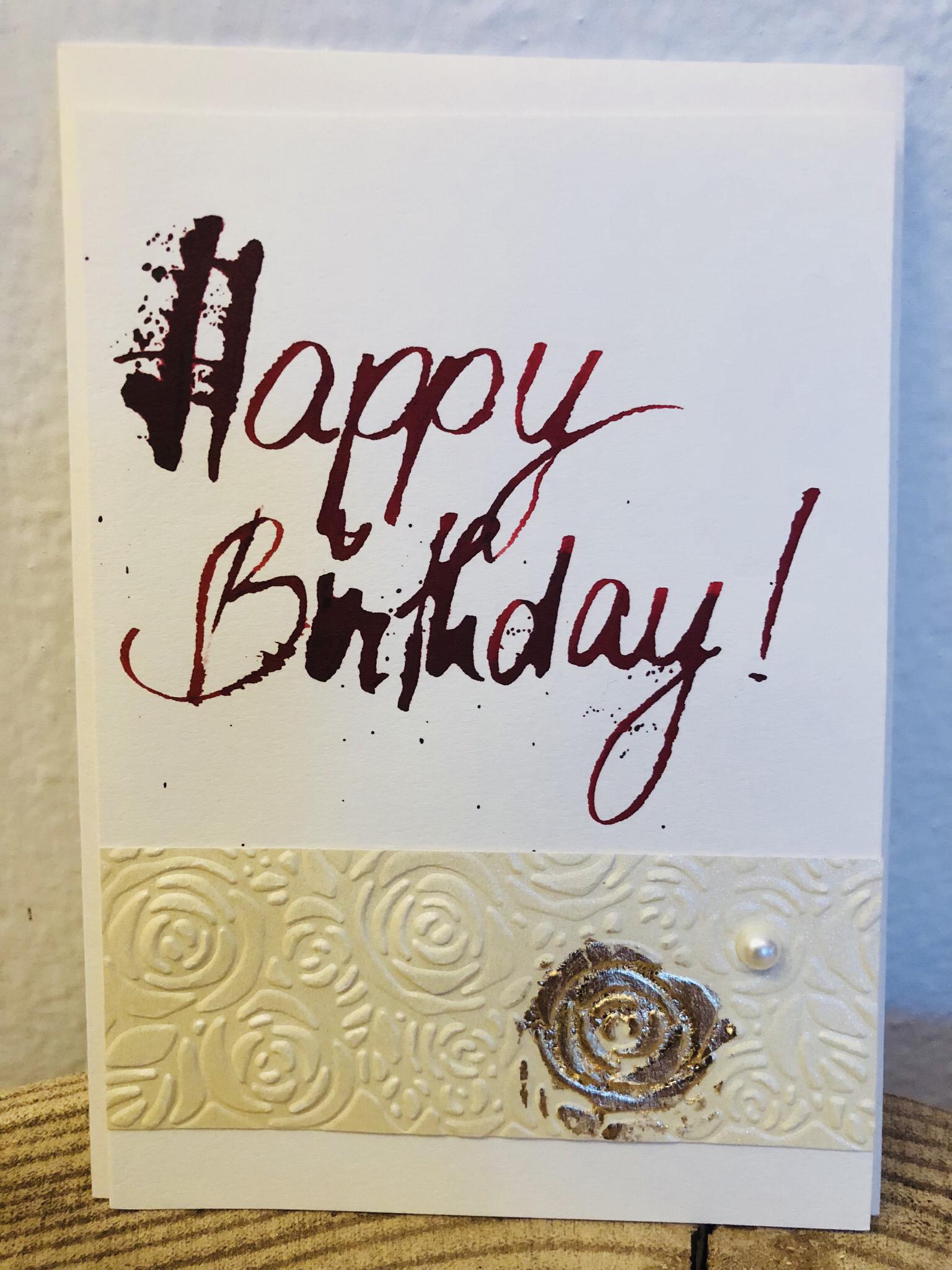 Karte - Happy Birthday! 00256