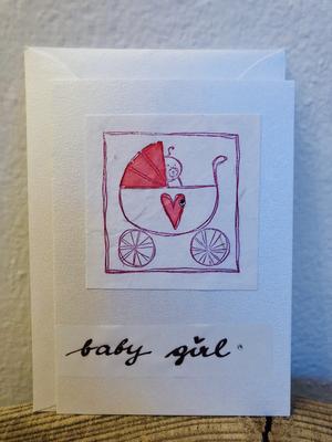 Karte Geburt - Baby girl