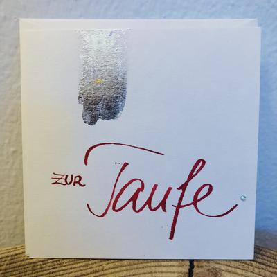 Karte - Zur Taufe