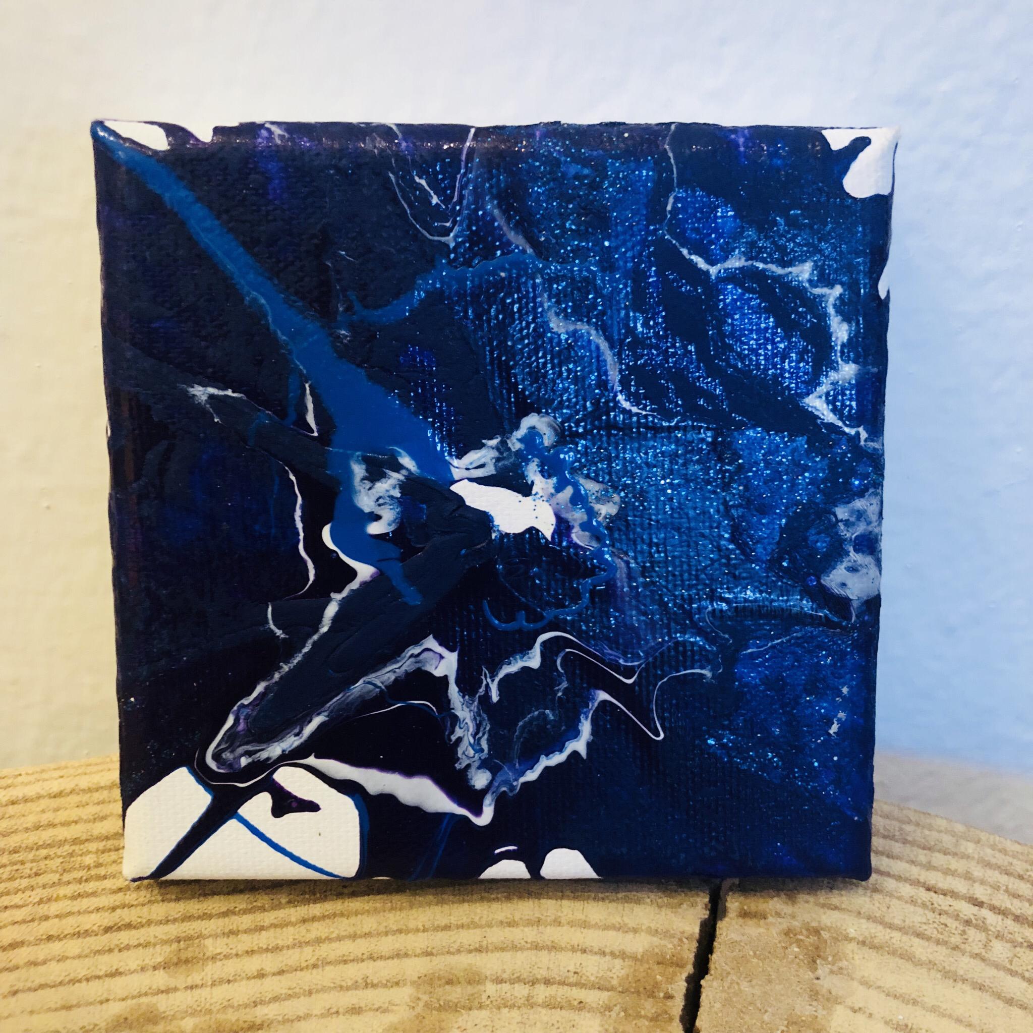 Bild Mini 10x10 cm Blautöne 00269