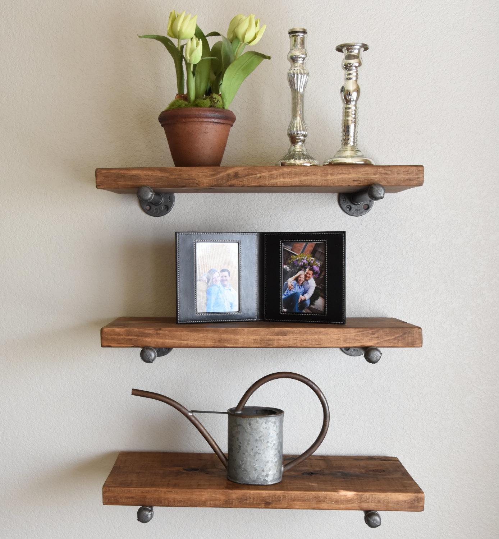 rustic wall shelves | rustic farmhouse furniture | charlotte, nc