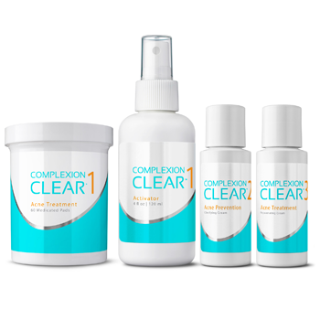 COMPLEXION CLEAR - 60 PAD ACNE TREATMENT SYSTEM - 3 STEP SYSTEM by Results RNA (Discount at Checkout)