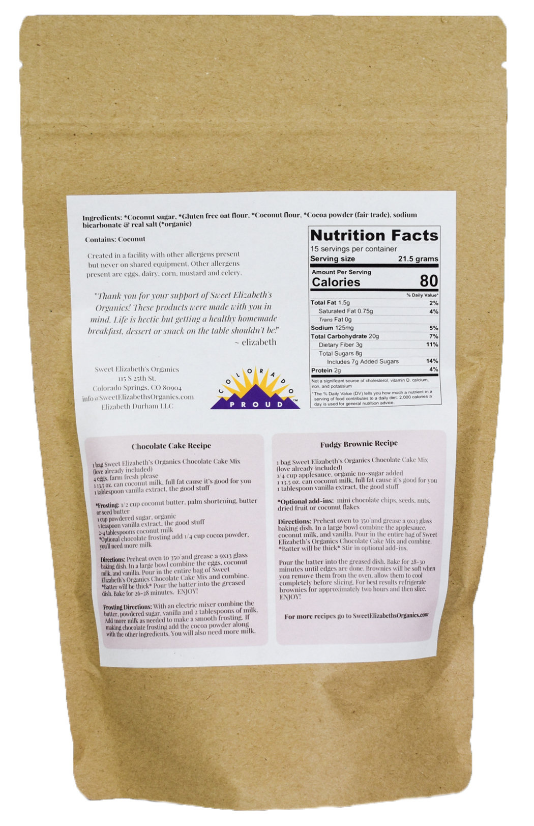 Recipes & Nutrition Facts