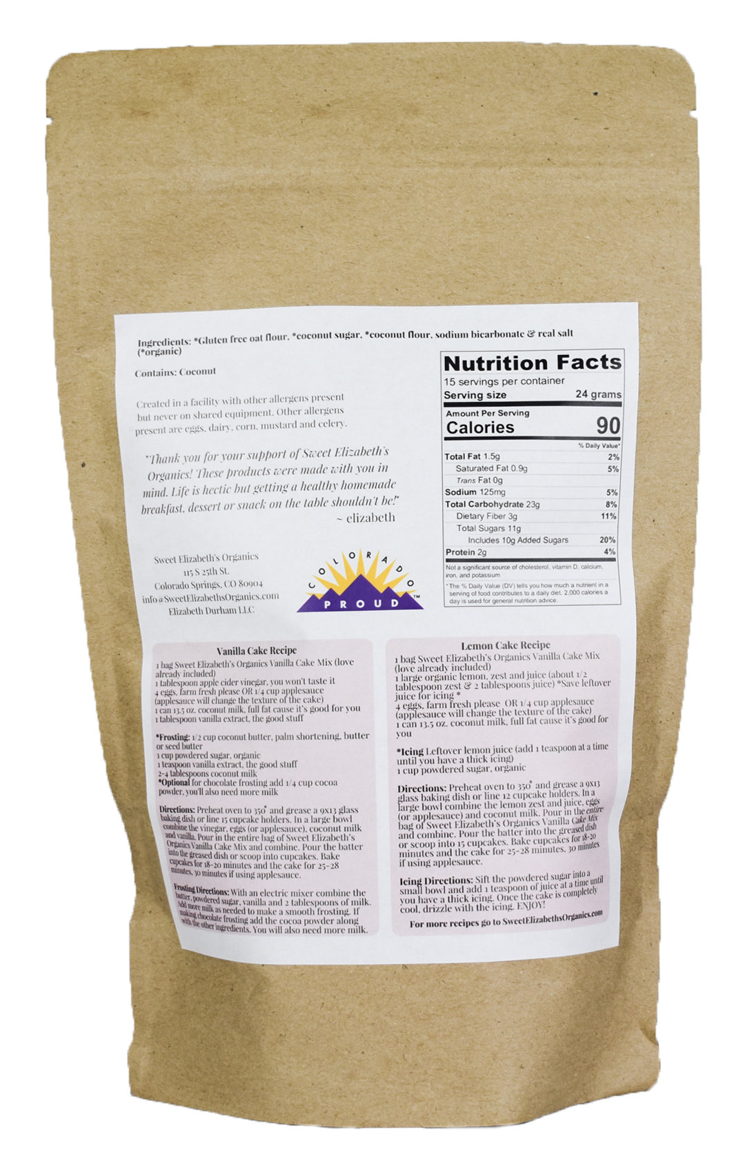 Directions & Nutrition Facts