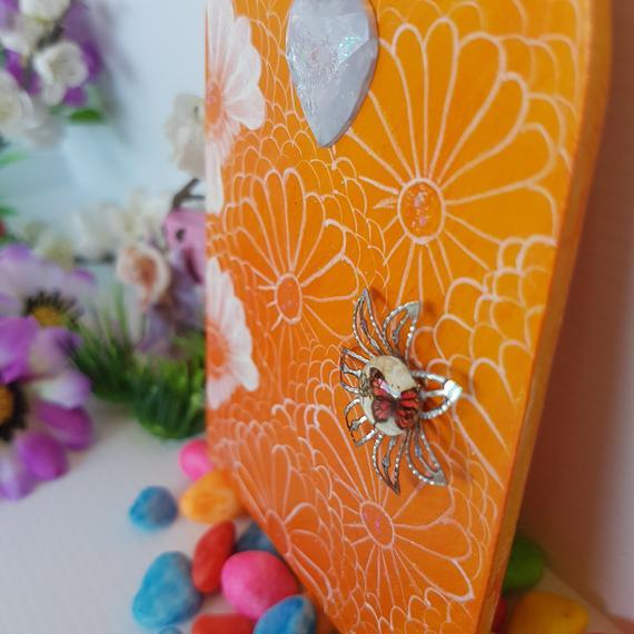 Orange and White Fairy Door