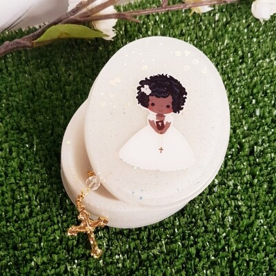 Oval Baptism Jewellery Box