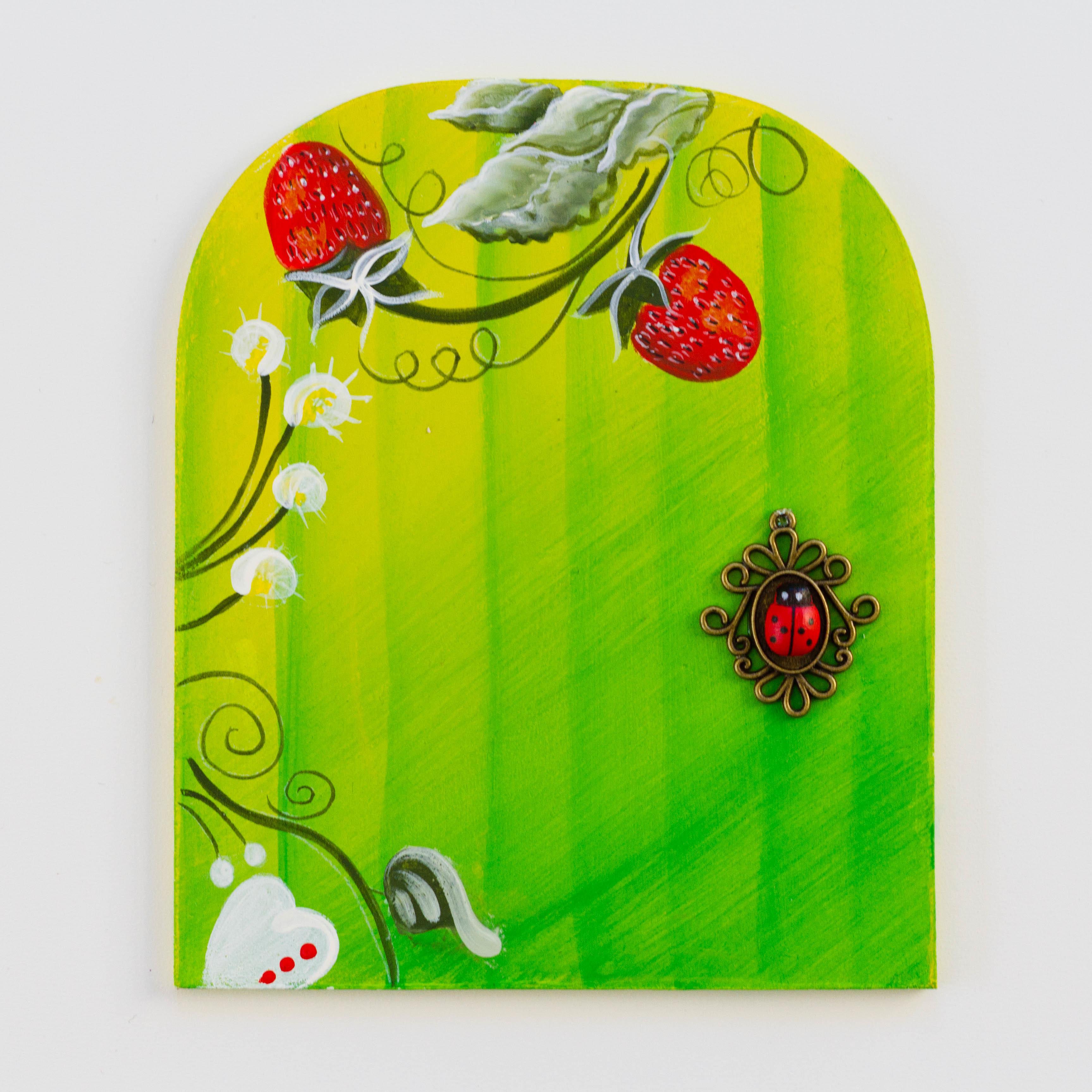 Strawberry Bloom Fairy Door 00097