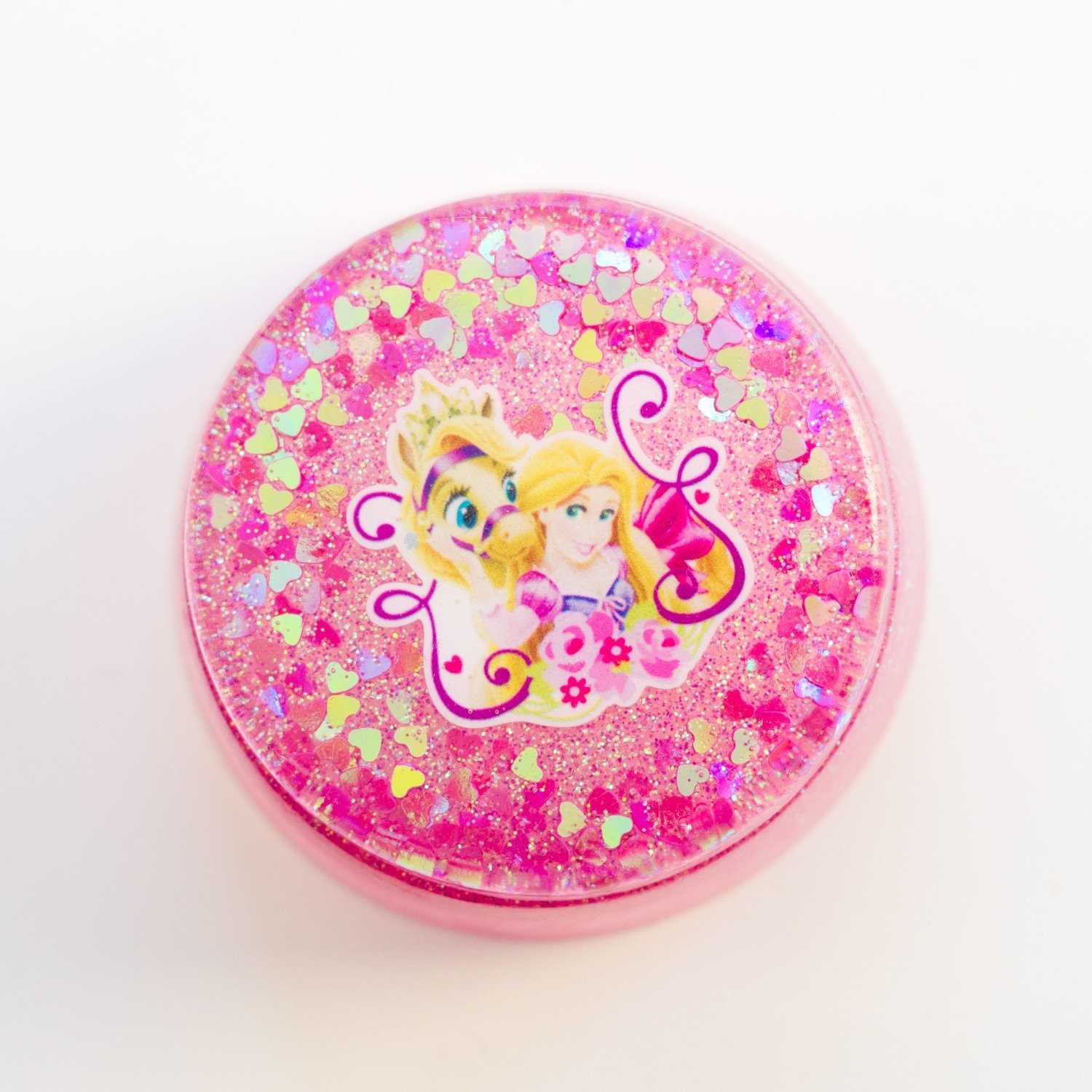 Kids Large Round Jewellery Box - Tangled In Pink