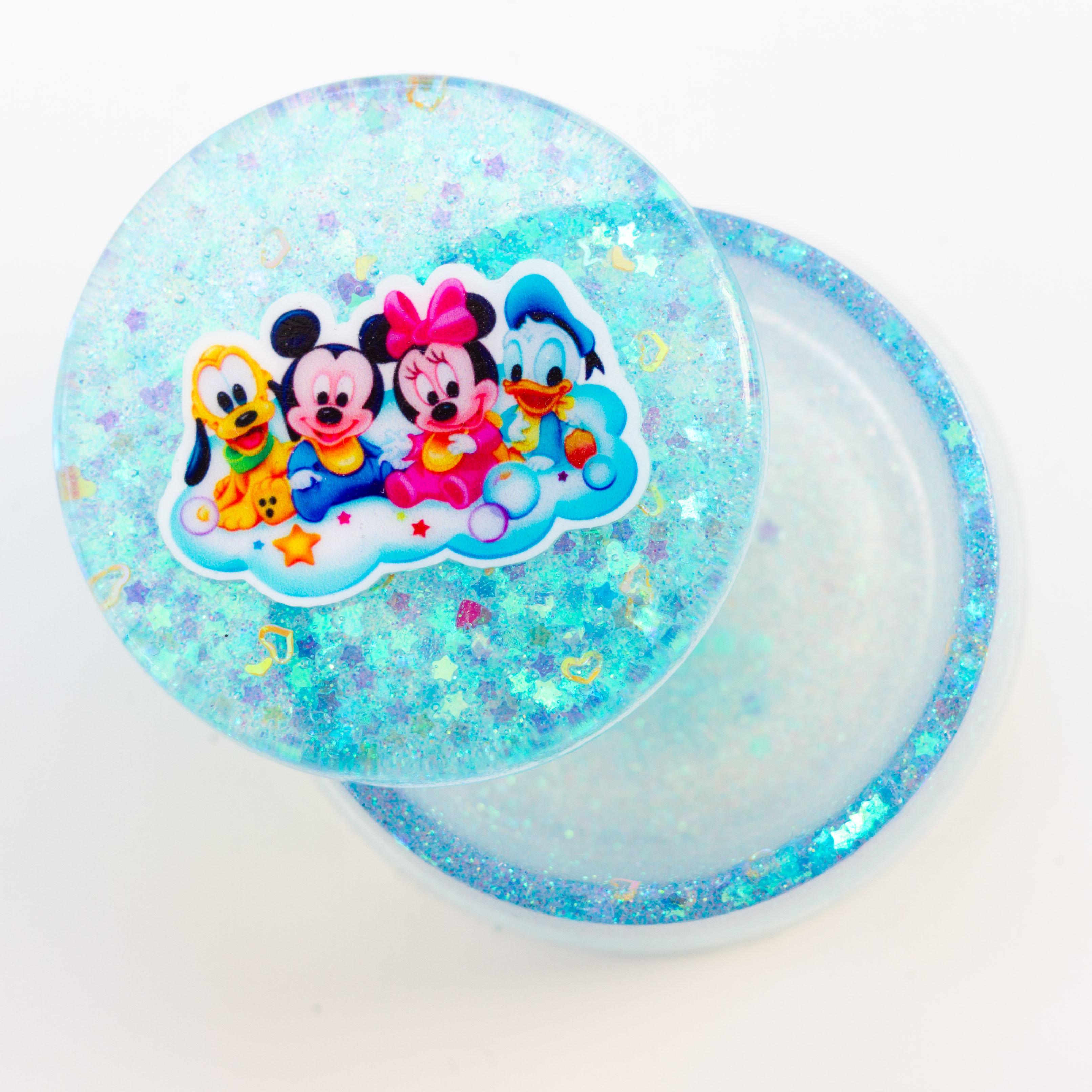 Jewellery Box Round- Disney Blue 00143