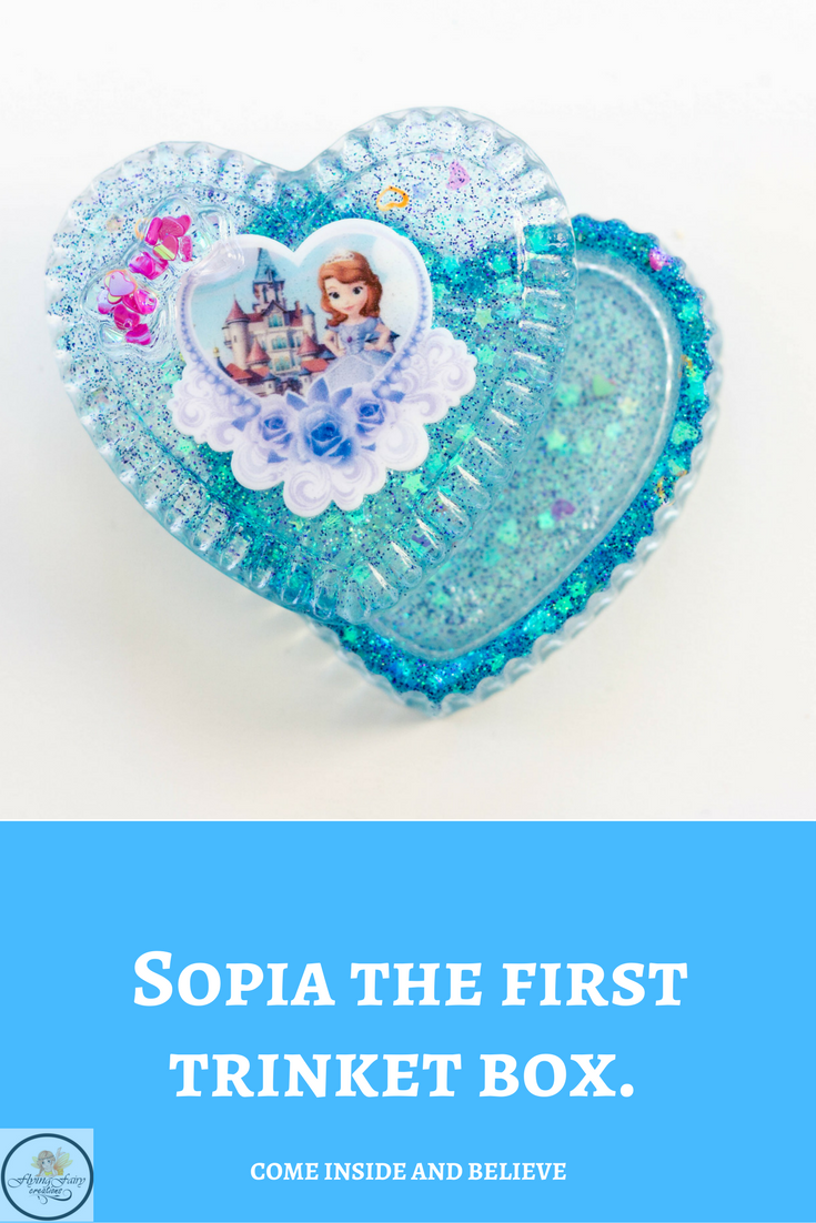 Sophia the First Handmade Resin Trinket Box Come inside and believe Flying Fairy Creations