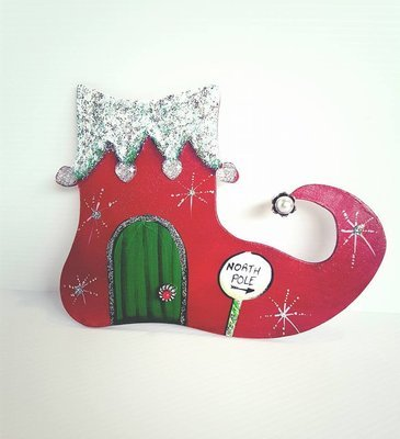 Elf Christmas Door