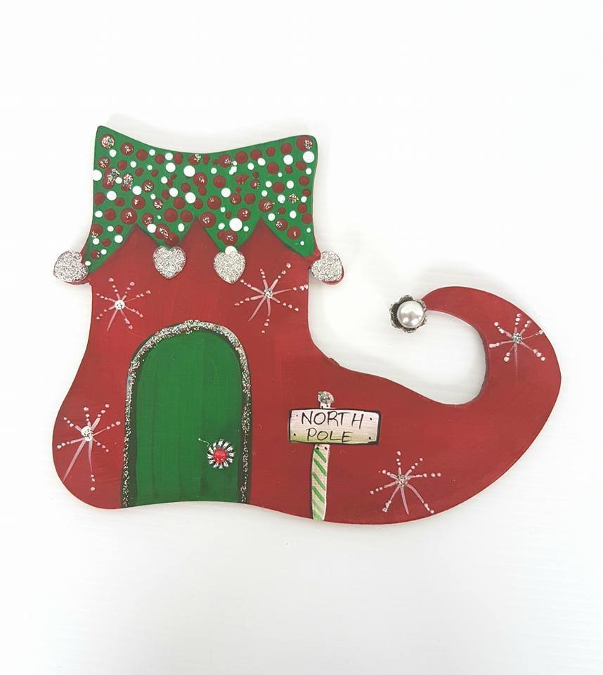 Elf Christmas Door 00168