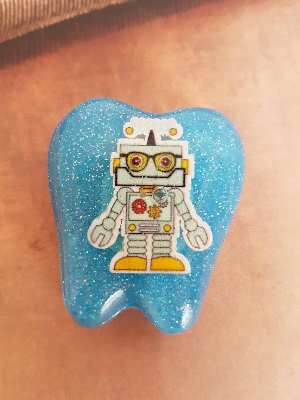 Tooth Fairy Box Blue Robot