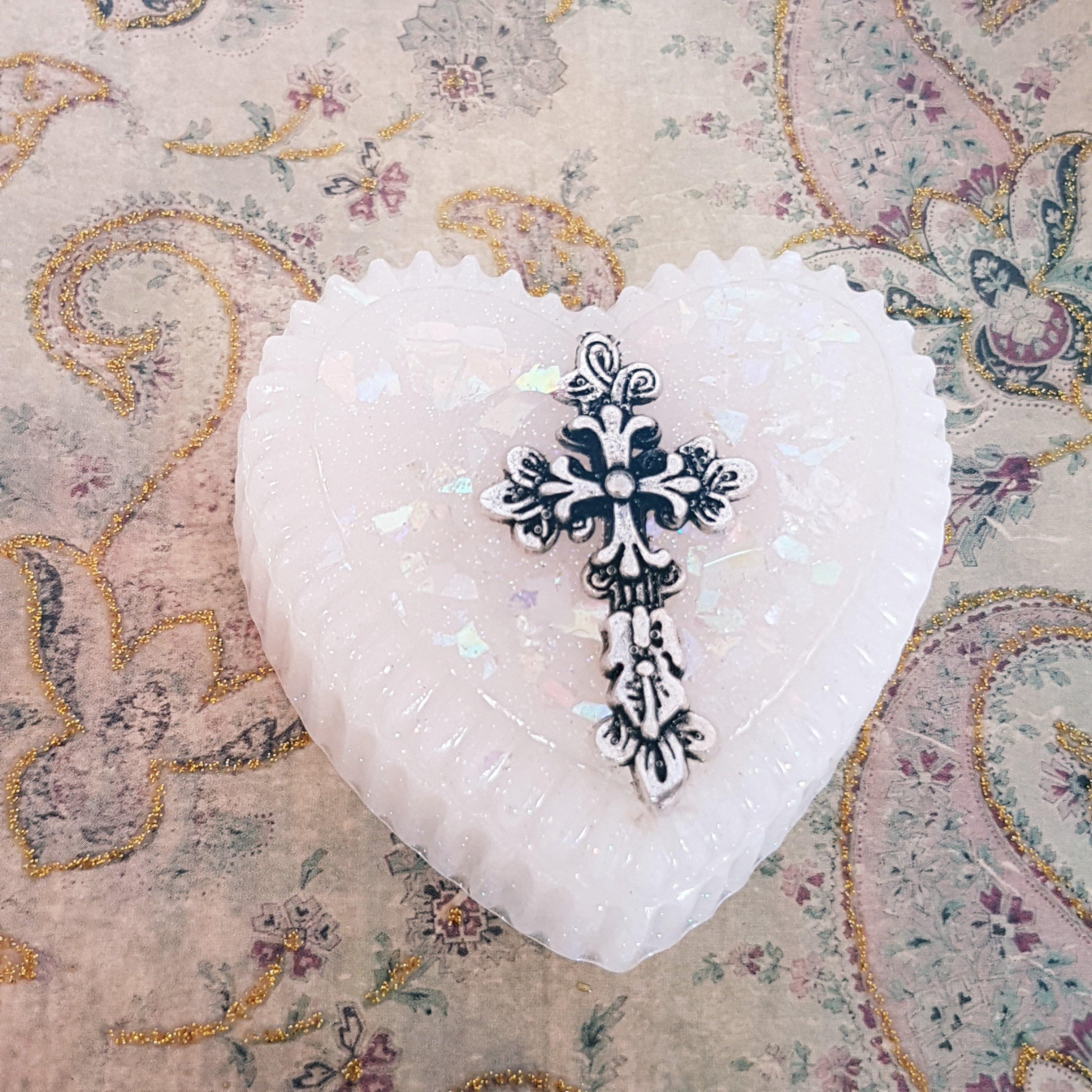 Heart Christening Box 00255