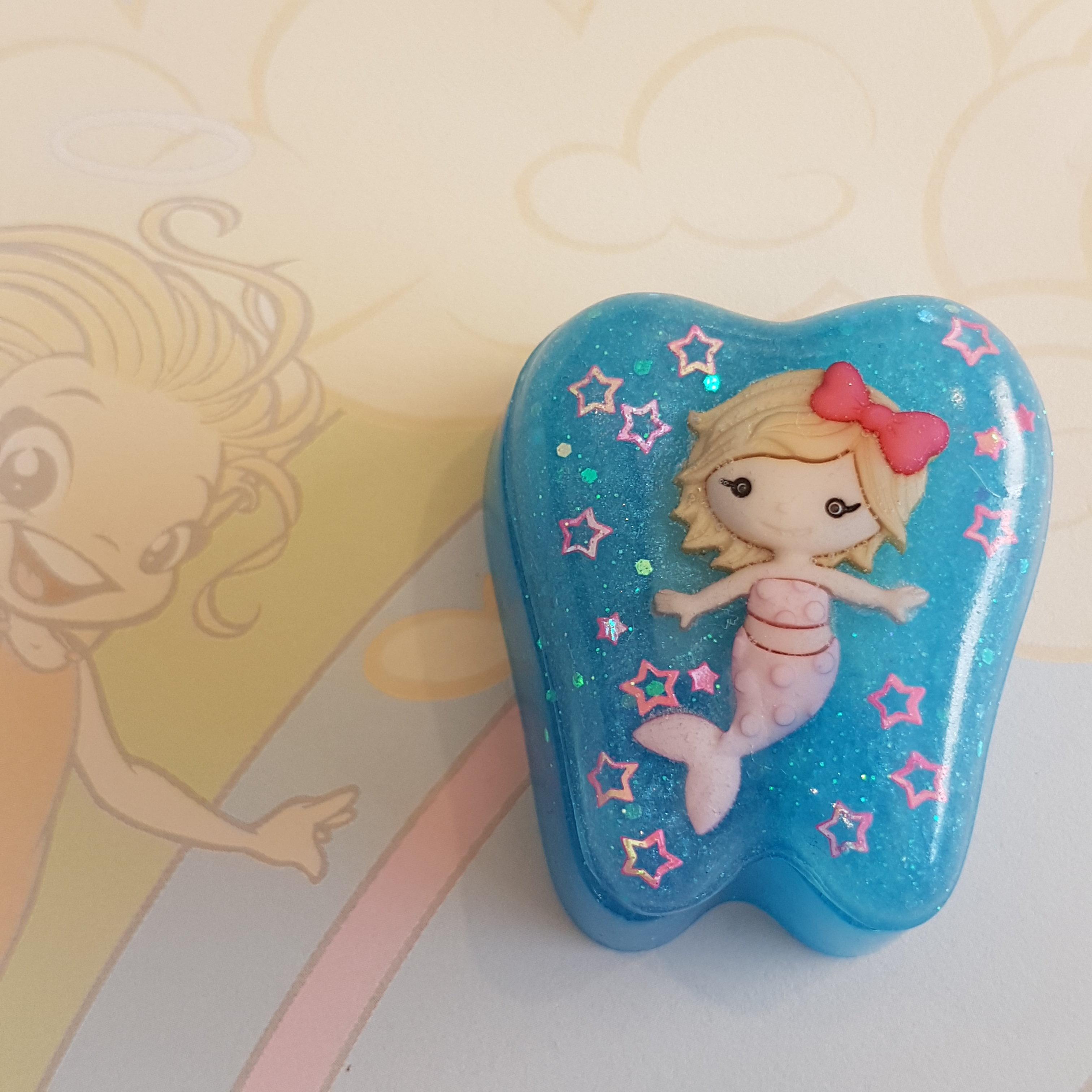 Tooth Fairy Box Mermaid in blue 00256