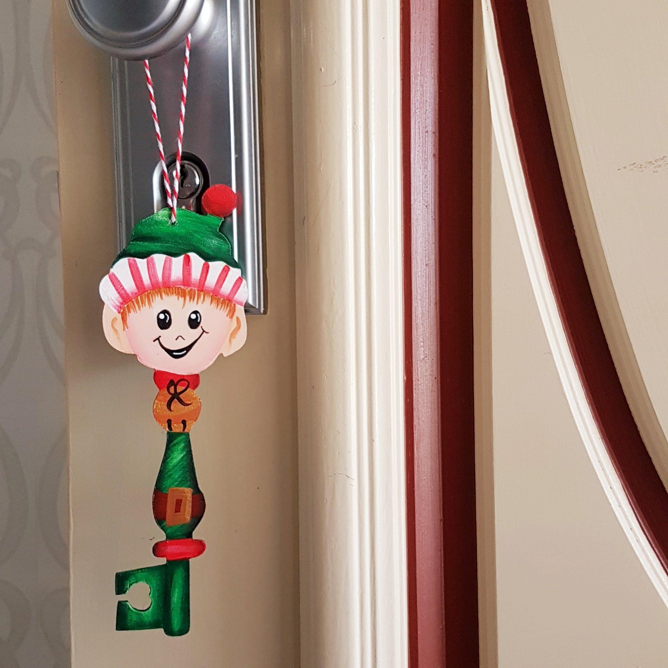 Elf Key hanging on door