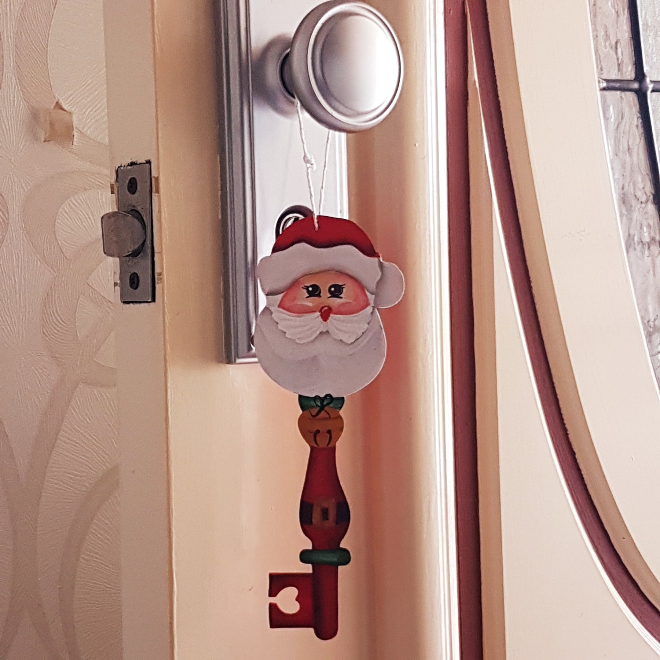 Santa key on door