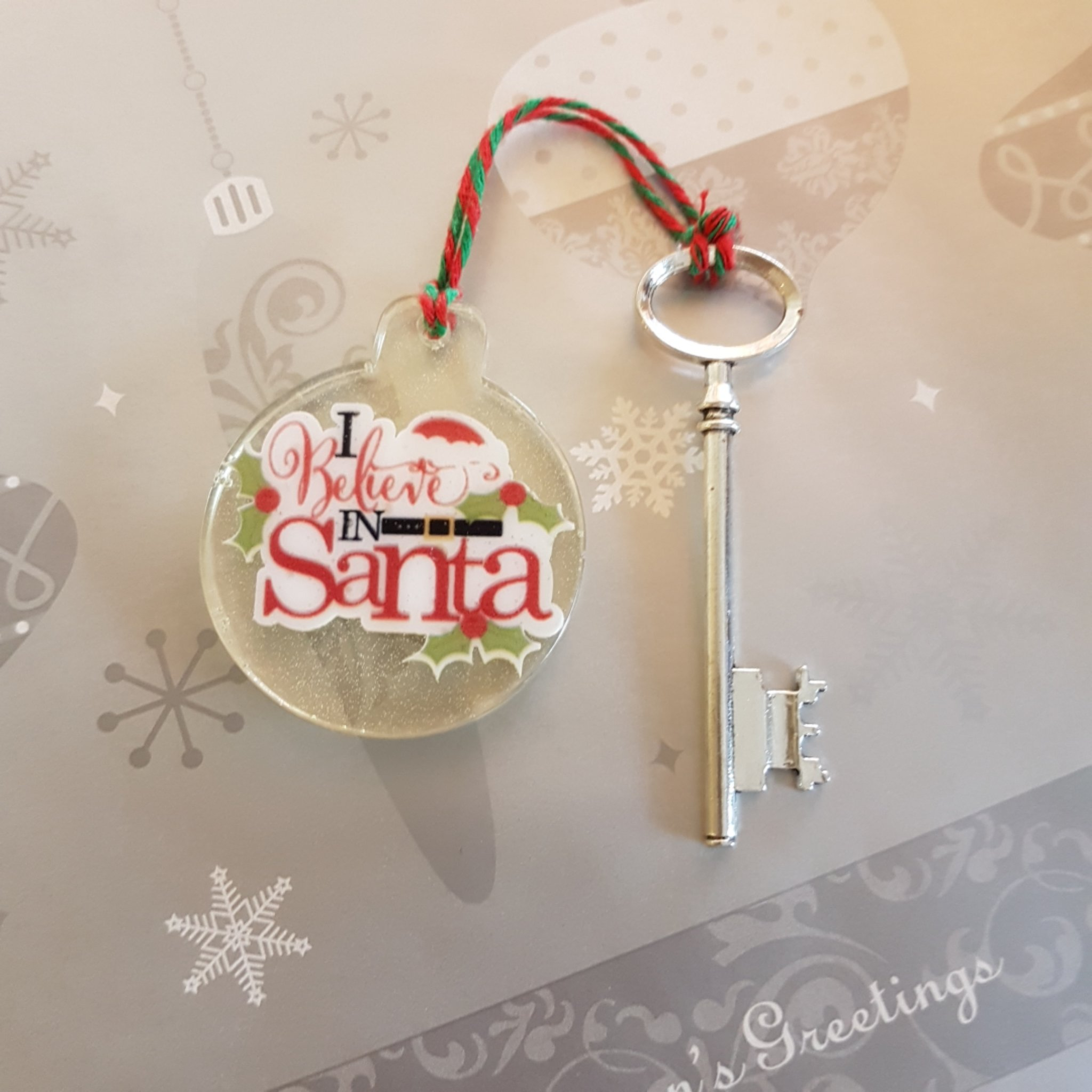 Resin I Believe In Santa. Magic Santa Key