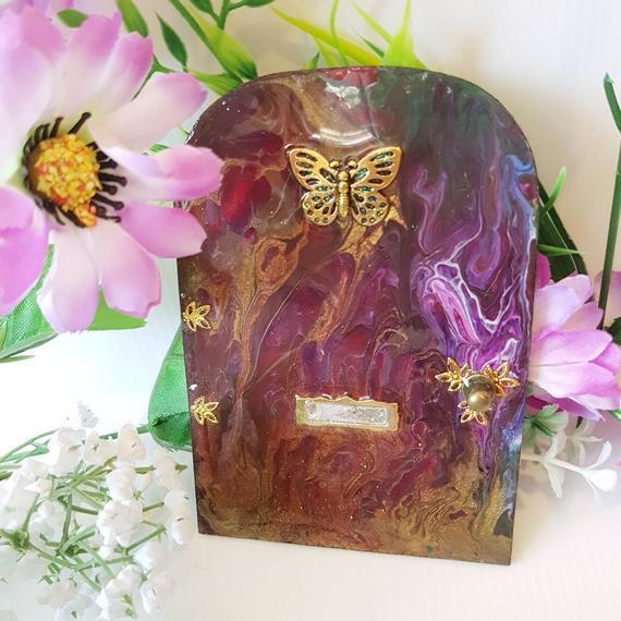 Butterfly Wooden Fairy Door 00306