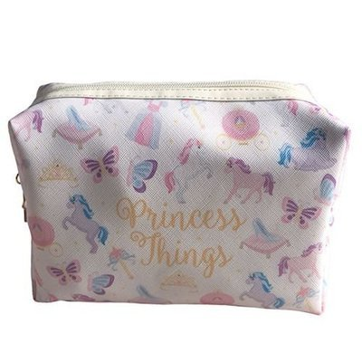 Unicorn and butterfly themed cosmetics/wash bag