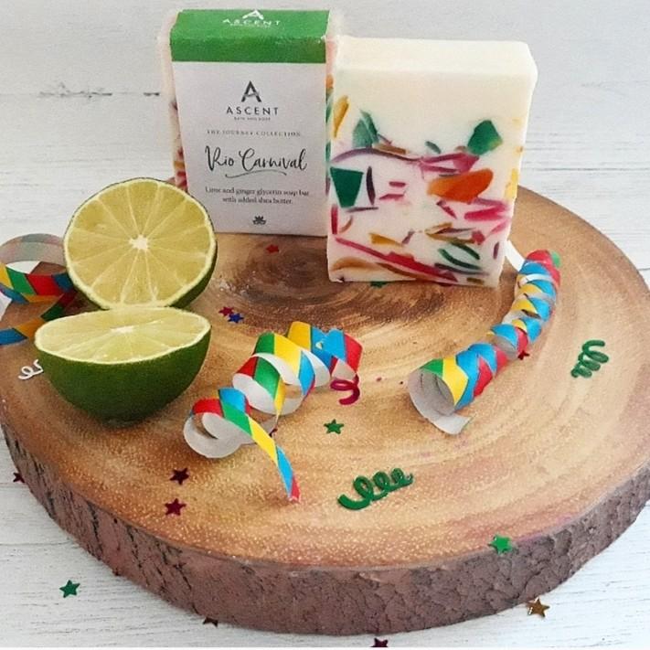 Rio Carnival glycerin soap bar
