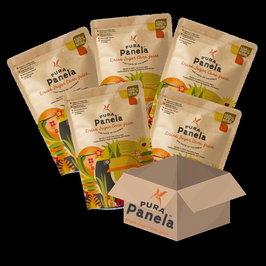 Pura Panela - Box of 12 x 454gm bags.