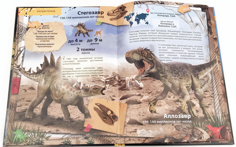 Энциклопедия динозавров. 4D. Твердая обложка.