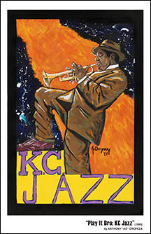 Play It Bro: KC Jazz - By AO - 11x17 Print
