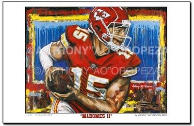 """Mahomes II"" by AO - 24"" x 36"", 1st Run Limited Edition of 30"