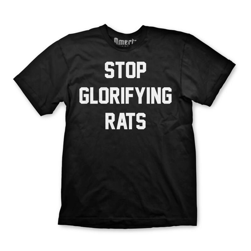 STOP GLORIFYING RAT TEE