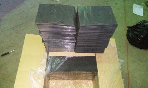 LOTE 542: 342484 ESTUCHES DOBLE PARA DVD HIGH QUALITY 7MM​