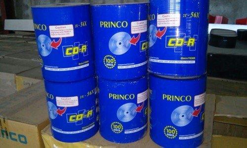 LOTE 595: DE 60,000 DISCOS COMPACTOS 4.7 GB DVDR 47 BULK MARCA SANKEY Y 90,000 DISCOS CD-R 80 MIN/700 MB MARCA PRINCO