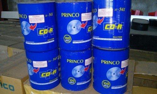 LOTE (675): LOTE DE 60,000 DISCOS CD-R 80 MIN/700 MB MARCA PRINCO.