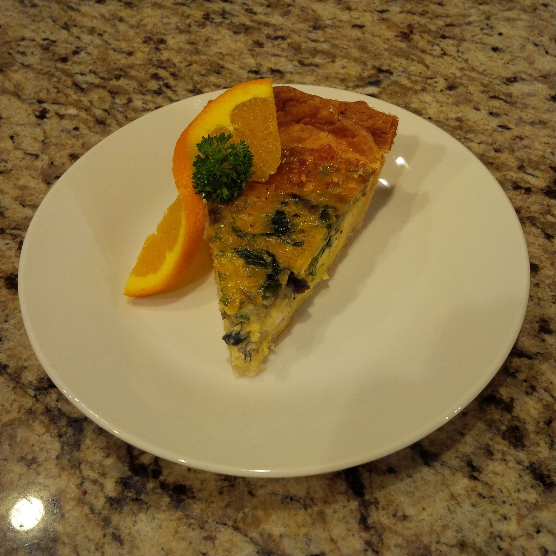 Organic Spinach, Kale & Mushroom Quiche