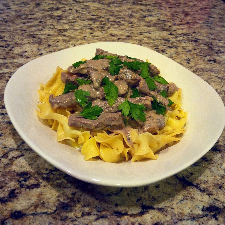 Organic Homemade Beef Stroganoff
