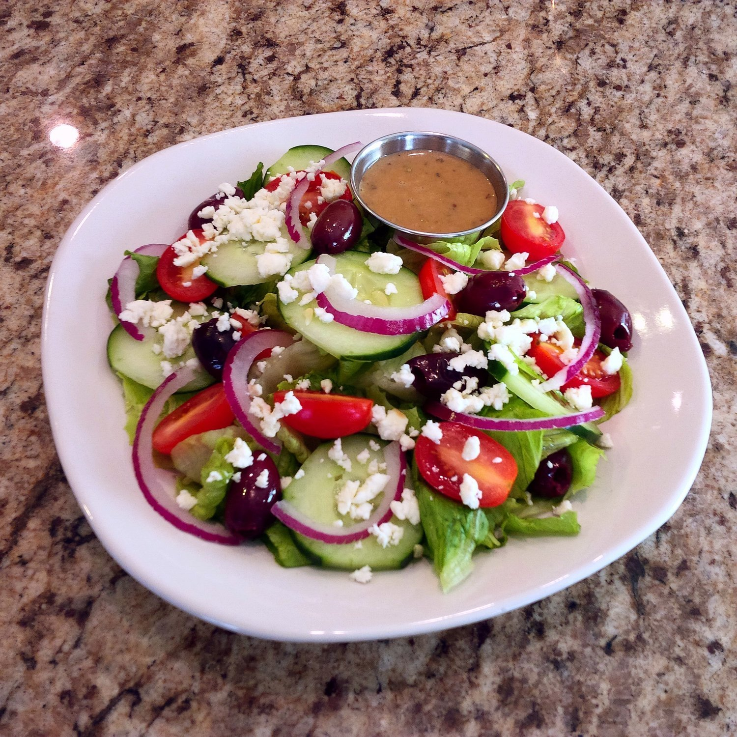 Family Meal Deal - Organic Greek Salad w/ Grilled Chicken