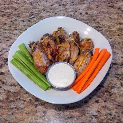 Organic Lemon Pepper Chicken Wings