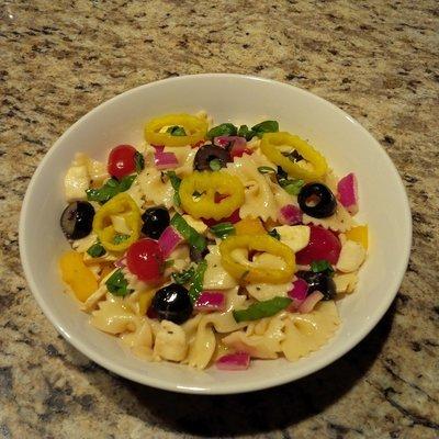 Italian Basil Pasta Salad