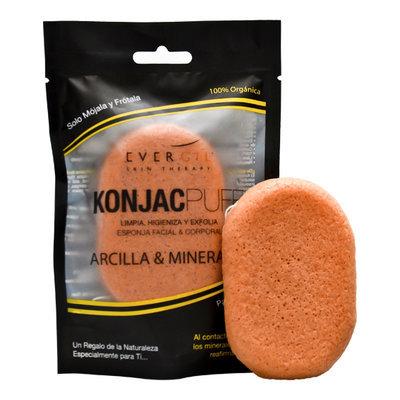 Esponja konjac arcilla & minerales (corporal)