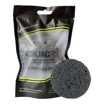 Esponja konjac carbón y bambú (facial)