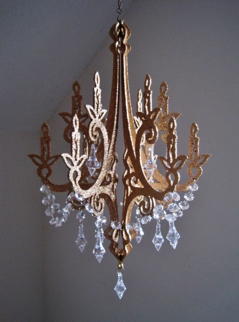 "16"" Royals Hollywood Glam Golden Unlit Chandelier Decoration MADE TO ORDER"