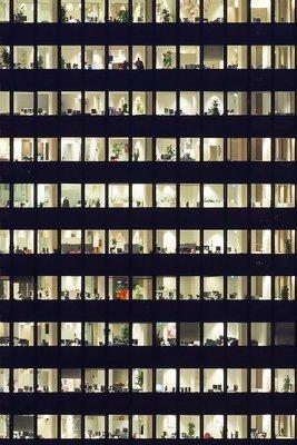 Modern Abstract Rotterdam, Coolsingel  '9 to 5' 2016, Ossip van Duivenbode