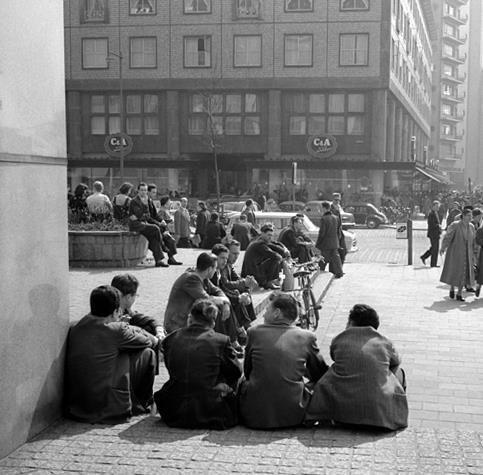 Historisch Rotterdam, Beursplein 1953, Vrije Volk