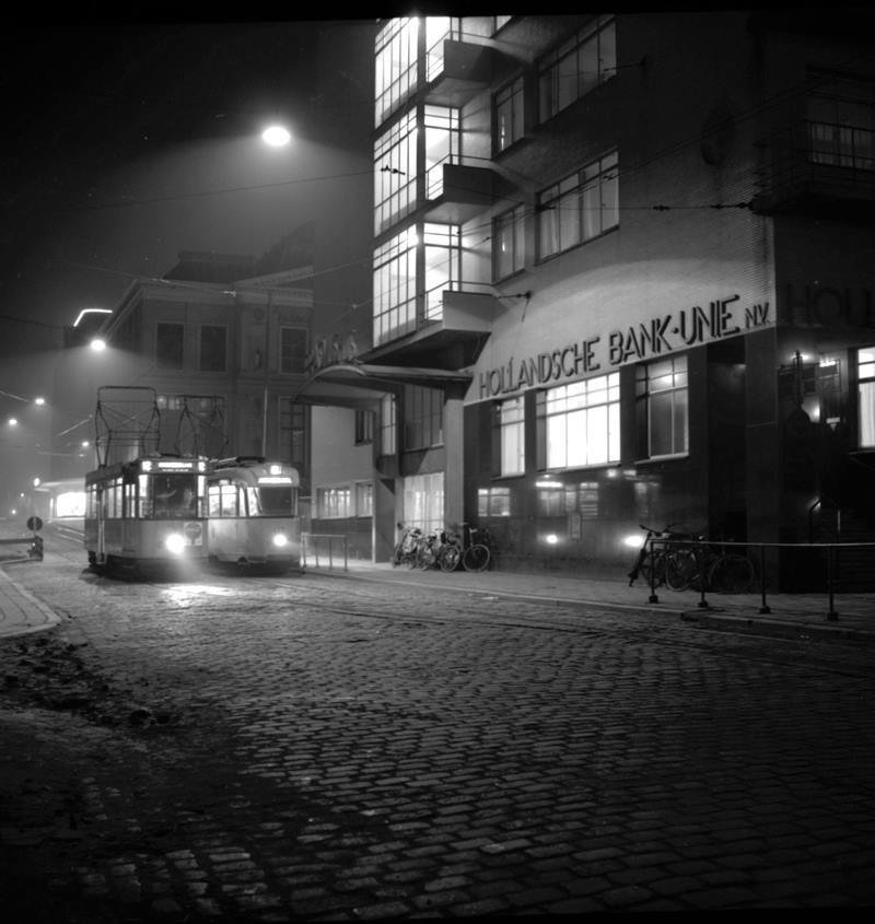 Historisch Rotterdam, Coolsingel met HBU gebouw 1955,  Jan Roovers
