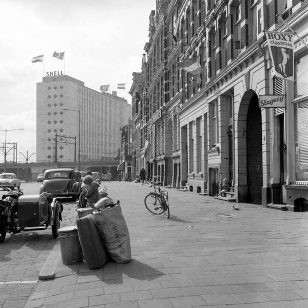 Historisch Rotterdam,  Schiekade richting Hofplein 1962, Jan Roovers