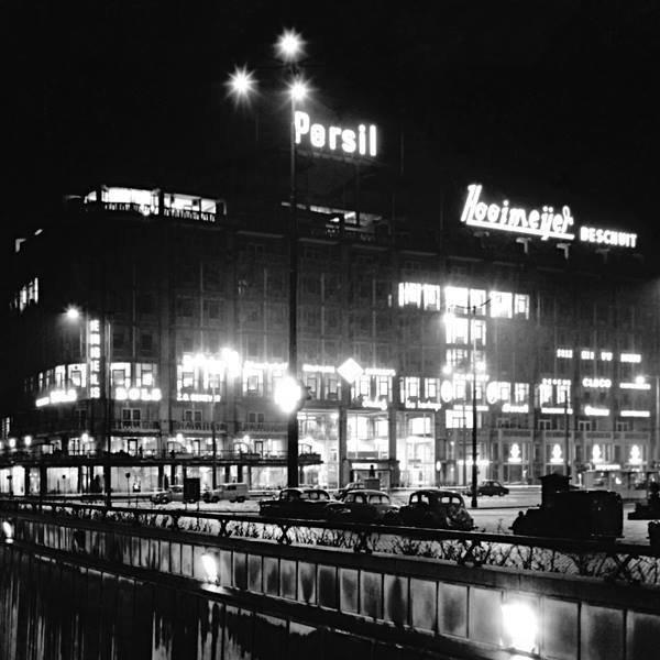 Historisch Rotterdam,  Weena met Groothandelsgebouw 1955, Jan Roovers