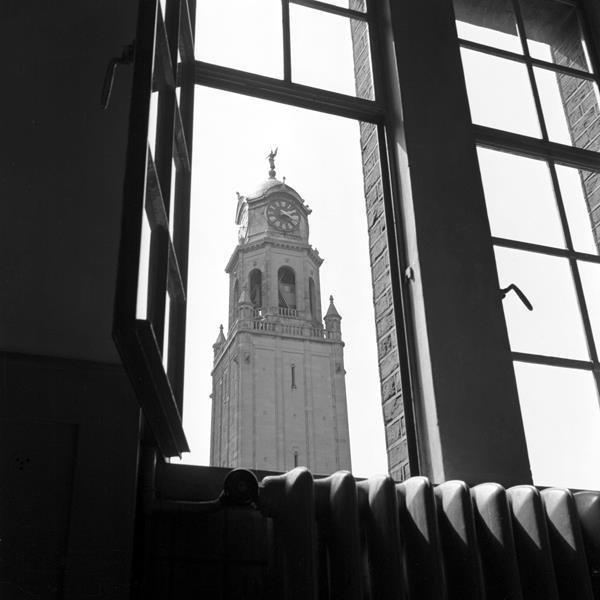 Historisch Rotterdam, Coolsingel met stadhuistoren 1947, Vrije Volk