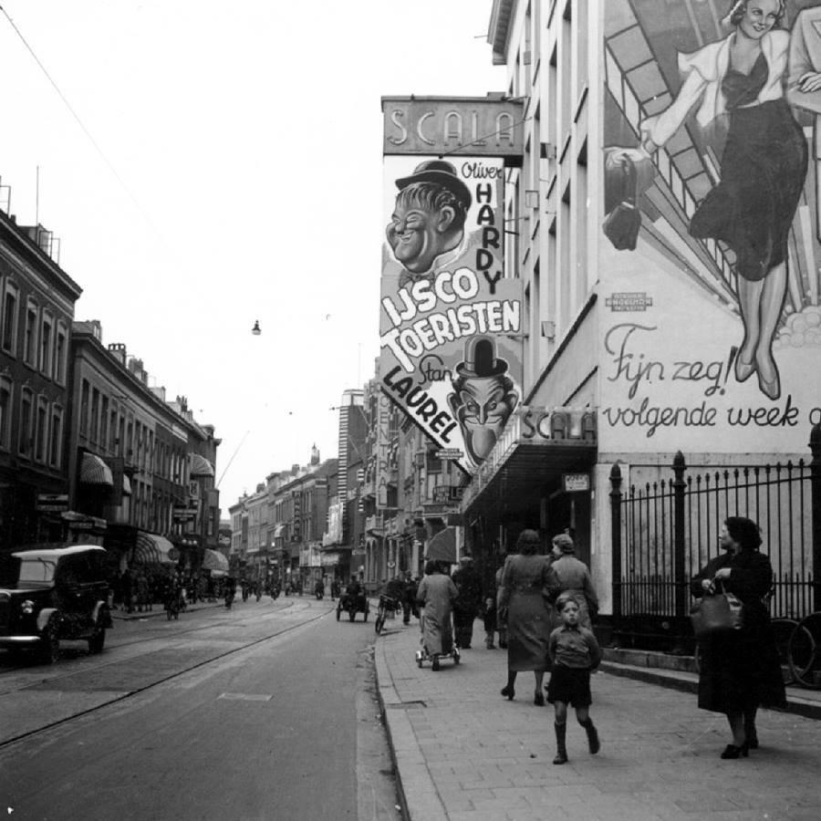 Historisch Rotterdam, Kruiskade 1930 met bioscoop, Stadsarchief