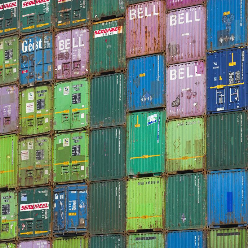 Abstract Rotterdam,  Containers, Huib Nederhof